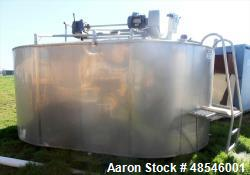 Used- Damrow Cheese Vat, Model Double 00, Approximately 4,500 Gallon Capacity, S