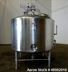 Used- DCI/Dairy Craft Inc Jacketed Tank, 800 Gallon, 316 Stainless Steel