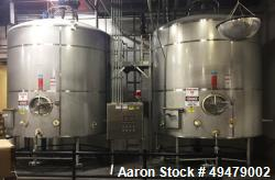 Used- DCI, 5,000 Gallon Stainless Steel Dome Top, Slope Bottom Pressure Wall Processor. Wide bottom sweep, 3 hp, 16 output r...