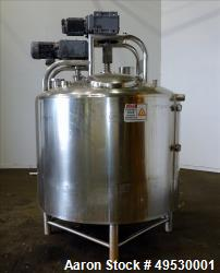 Used- DCI 500 Gallon Processor, Stainless steel. Scrape Side Agitator and High speed prop.  Dish Top & Dish Bottom.  S/n 85-...