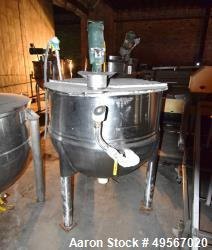 "Used- Lee Metal Products Kettle, 150 Gallon, Model 150D, Stainless Steel, Vertical. Approximate 42"" diameter x 33"" deep. Ope..."