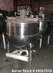 "Used- Groen Single Motion Kettle, 150 Gallon, Model RA 150 SP., 321 Stainless Steel, Vertical. Approximate 42"" diameter x 35..."