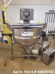 Used-80 Gallon Lee Metal Products Stainless Steel Kettle. Double motion scrape agitation. Jacket rated 60 PSI at 325 deg.F. ...