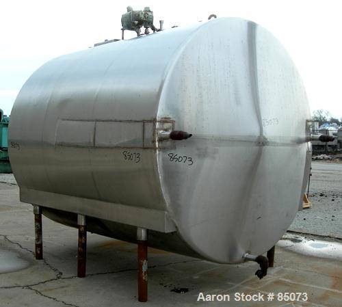 "Used- Mojonnier Brothers Cold Wall Tank, 3500 gallon, model MIIIF, 304 stainless steel, horizontal. 92"" diameter x 106"" stra..."