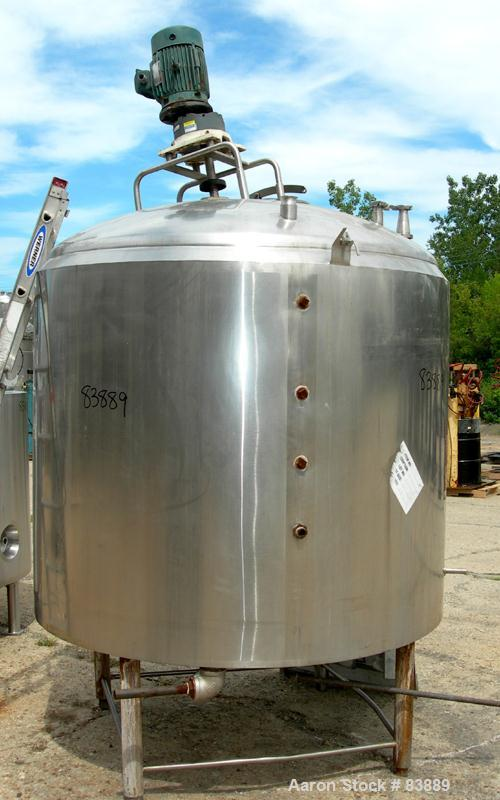 Used- 700 Gallon Stainless Steel Mojonnier Processor/Kettle