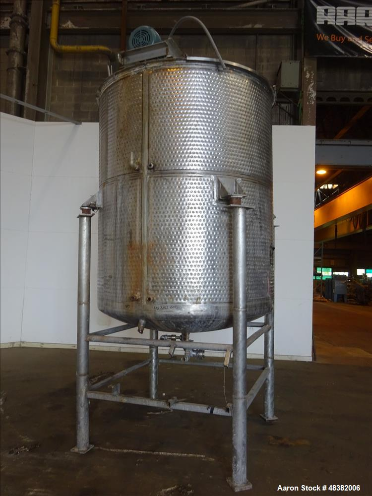 Used- Mueller Kettle, Approximately 1,500 Gallon, 304 Stainless Steel, Vertical.