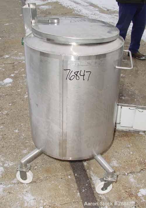 """USED: Mueller kettle, 40 gallon, stainless steel, vertical. 19-7/8""""diameter x 28"""" straight side. Open top with cover, sloped..."""