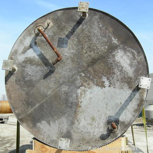 "USED: Mueller jacketed tank, approximately 2300 gallon, 304 stainless steel, vertical.  84"" diameter x 98"" straight side.  D..."