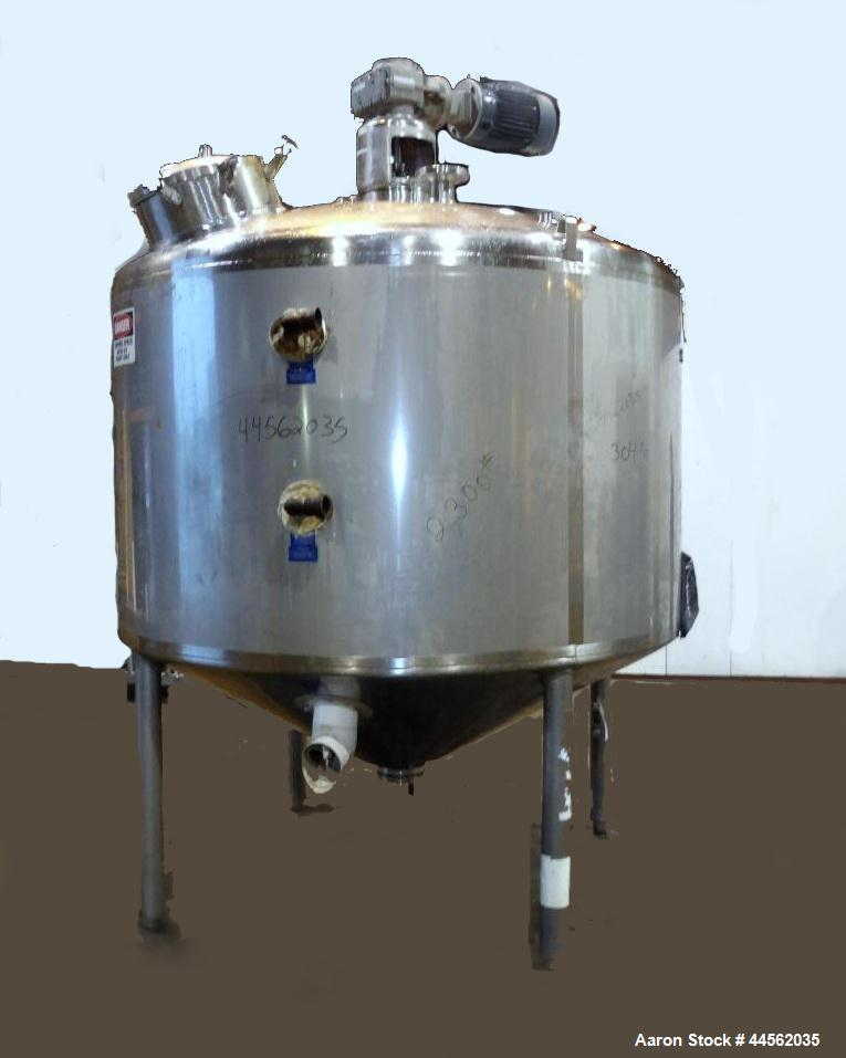 """Used- Mueller Processor/Kettle, 1000 Gallon, Model PCPC, 304 Stainless Steel, Vertical. 78"""" Diameter x 45"""" straight side, di..."""
