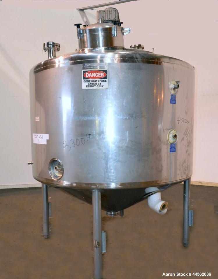 "Used- Mueller Processor/Kettle, 1000 Gallon, Model PCPC, 304 Stainless Steel, Vertical. 78"" Diameter x 45"" straight side, di..."