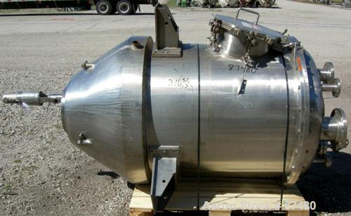 "Used- Kettle, 220 Gallon, 304 Stainless Steel, Vertical. 38"" Diameter x 43"" straight side x 20"" jacketed coned bottom, no ra..."