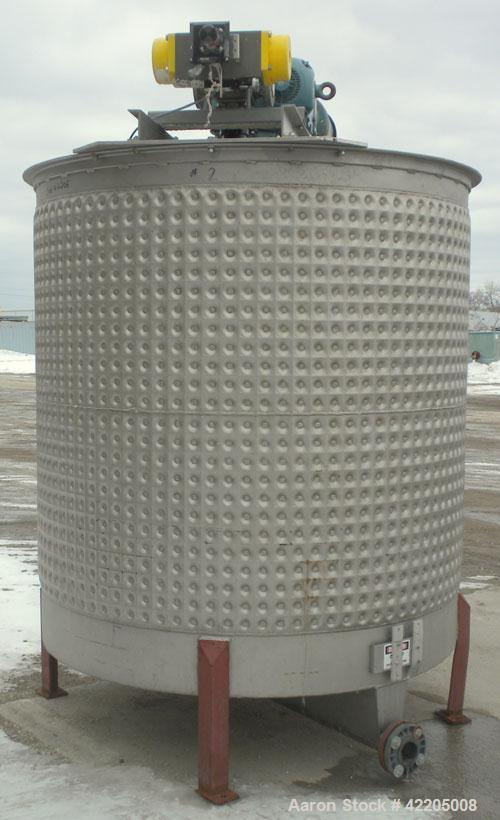 "Used- Kettle, 1250 Gallon, 304 Stainless Steel, Vertical. Approximate 70"" diameter x 73"" straight side, flat open top no cov..."