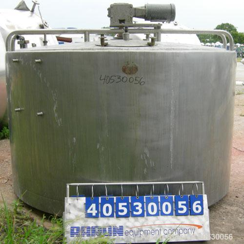 """Used- Kettle/Processor, 1100 gallon, 304 stainless steel, vertical. Approximately 84"""" diameter x 47"""" straight side, slight c..."""