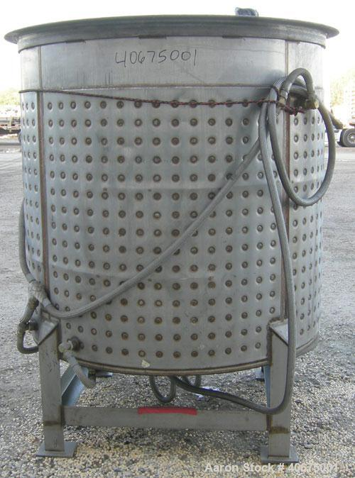 "Used- Kettle, 800 gallon, 304 stainless steel, vertical. 60"" diameter x 59 1/2"" straight side, open top, no cover, dished bo..."