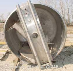 """Used- Kettle, 1000 Gallon, 304 Stainless Steel, Vertical. 72"""" Diameter x 60"""" straight side. Flat open top, no covers, coned ..."""