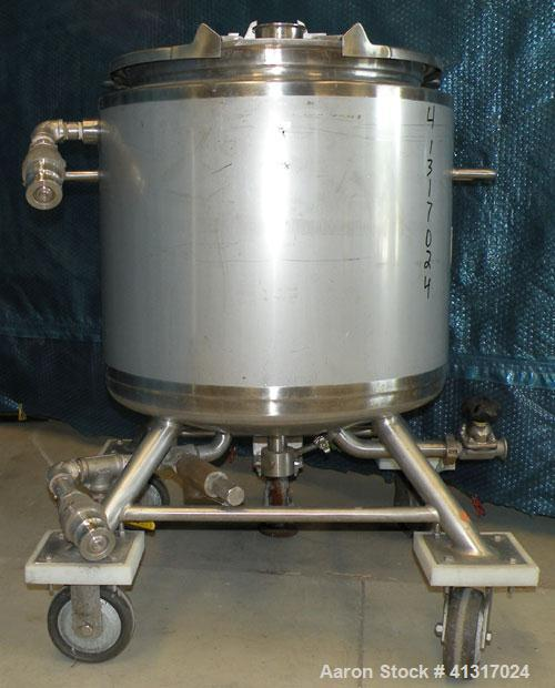 """Used- Northland Stainless Kettle, 36 Gallon, 316L Stainless Steel, Vertical.22"""" diameter x 20"""" straight side. Flat open top..."""