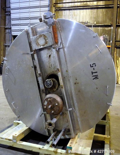 """Used- Northland Stainless Kettle, 2000 Gallon, 316 Stainless Steel, Vertical. 84"""" Diameter x 92"""" straight side. Open top wit..."""