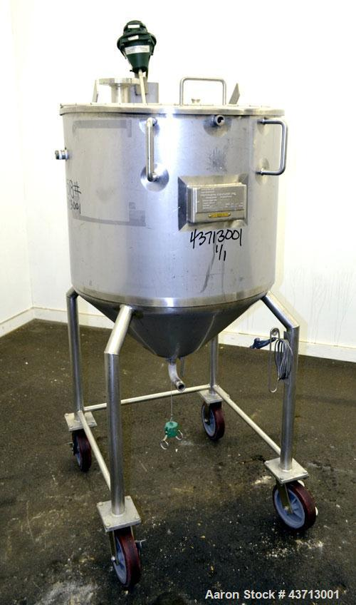 "Used- Northland Stainless Kettle, 55 Gallon, 316L Stainless Steel, Vertical. 26"" Diameter x 24"" straight side, open top with..."