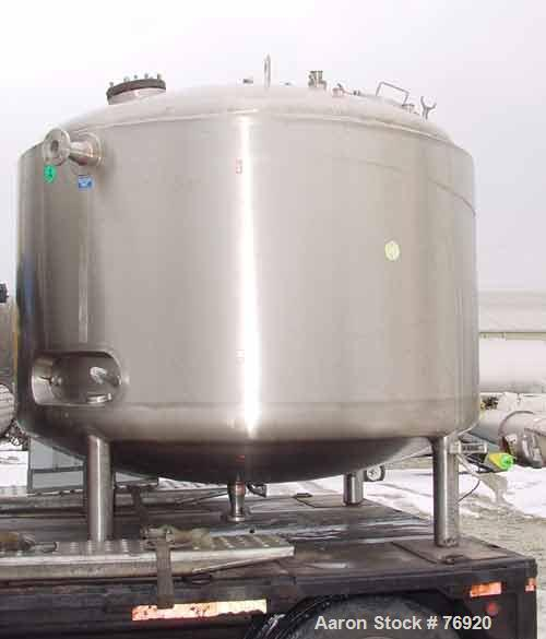"USED: Northland stainless processor kettle, 1200 gallon, 316stainless steel, vertical. 84"" diameter x 46"" straight side, dis..."