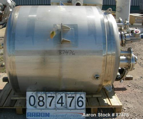"""USED: Northland Stainless Kettle, 400 gallon, 304 stainless steel, vertical. 48"""" diameter x 48"""" straight side, dish top and ..."""