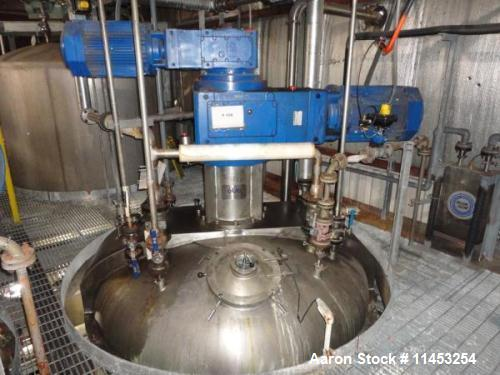 Used- 10,000 Liter Olsa Twin Motion Vacuum Kettle, Model 400