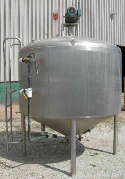 "Used- Mueller Processor/Kettle, model PCPC, 1000  gallon, 304 stainless steel, vertical. 78"" diameter x 48"" straight side x ..."