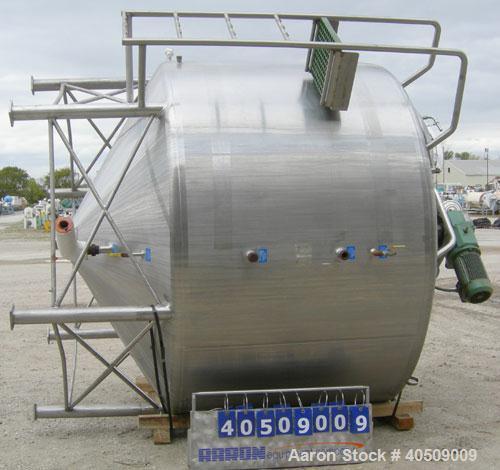 "Used- Mueller Processor/Kettle, model PCPC, 1500  gallon, stainless steel, vertical. 96"" diameter x 54"" straight side. Dishe..."