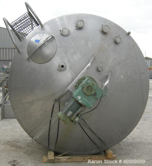 "Used- Mueller Processor/Kettle, model PCPC, 1500  gallon, stainless steel, vertical. 96"" diameter x 54"" straight side. Dishe..."