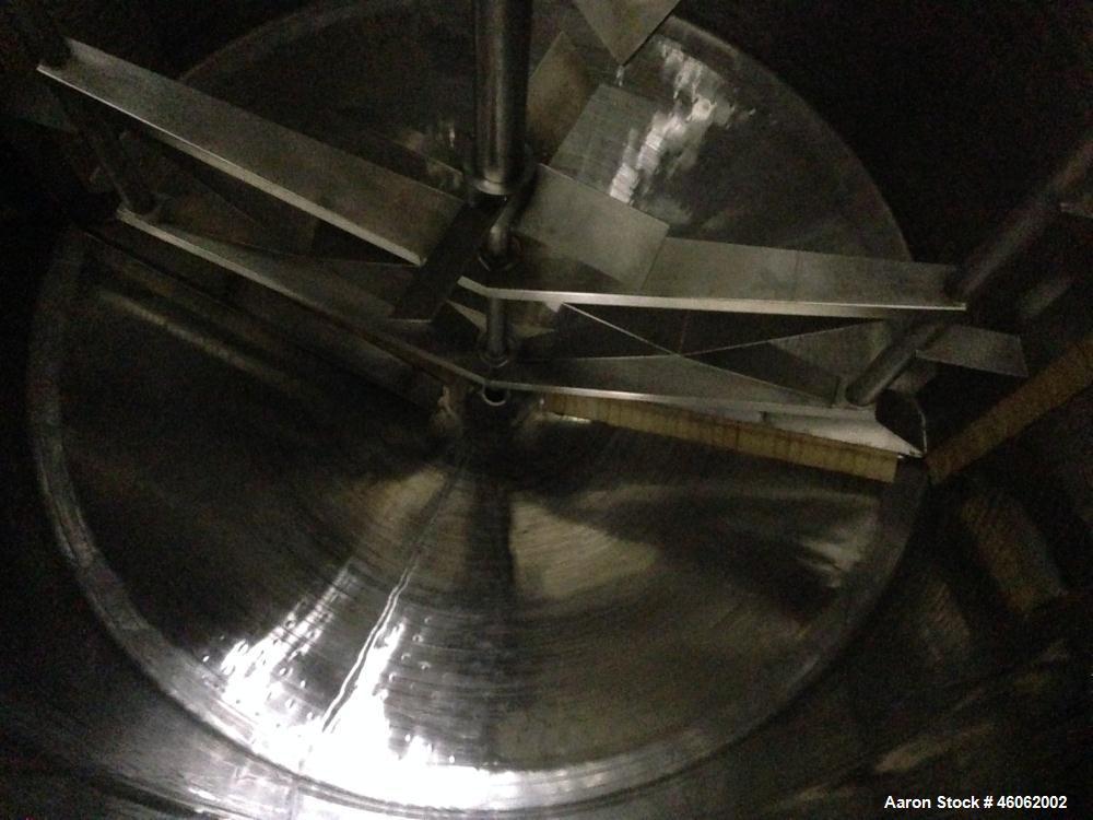 Used- Viatec Perma-San 4000 Gallon 316 Stainless Steel Sanitary, Kettle