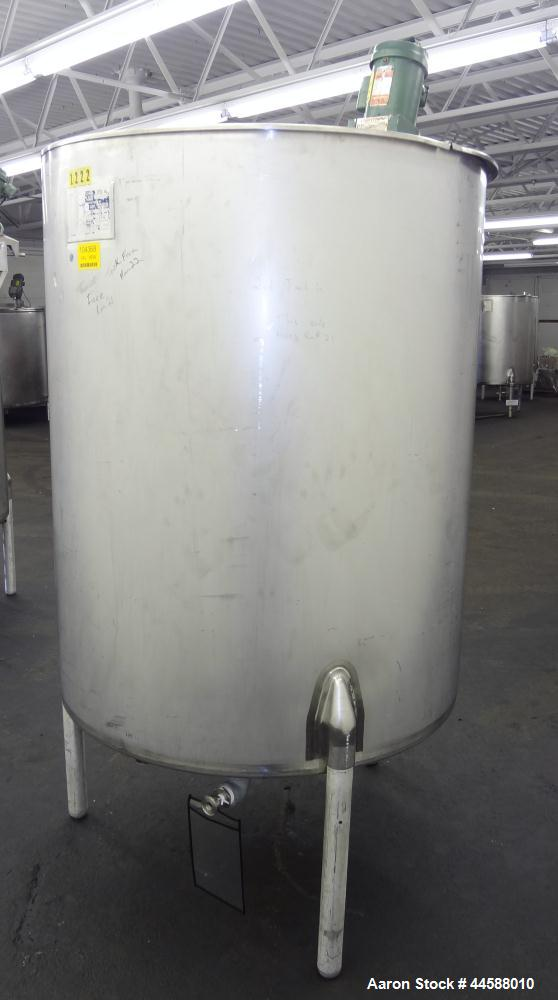 "Used- Perma-San Kettle, 310 Gallons, Model JOVS, 316 Stainless Steel, Vertical. Approximately 42"" diameter x 53"" straight si..."