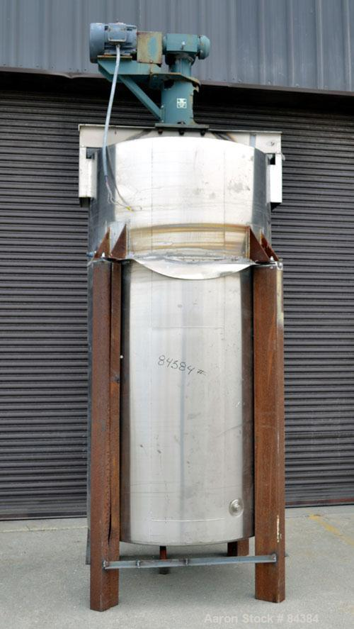 "Used- Perma-San Kettle, 750 Gallon, Model JOVC, 316 Stainless Steel, Vertical. 48"" Diameter x 94"" straight side. Open top, n..."