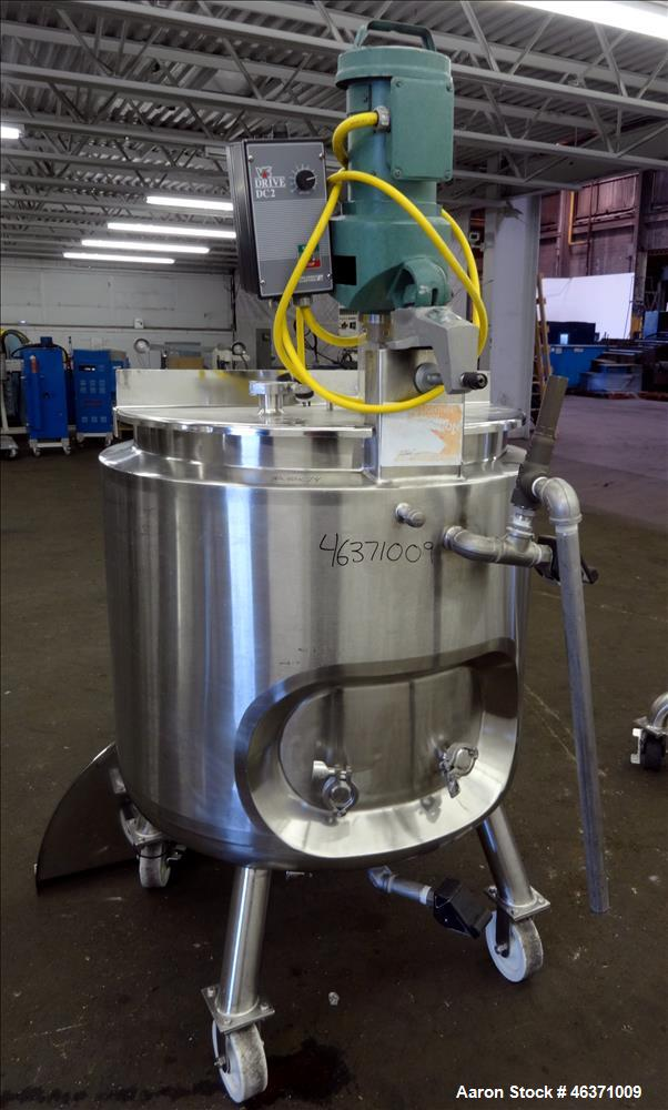 "Used- Precision Stainless Kettle, 300 Liter (79.2 Gallon), 316L Stainless Steel, Vertical. 30"" Diameter x 26"" straight side...."