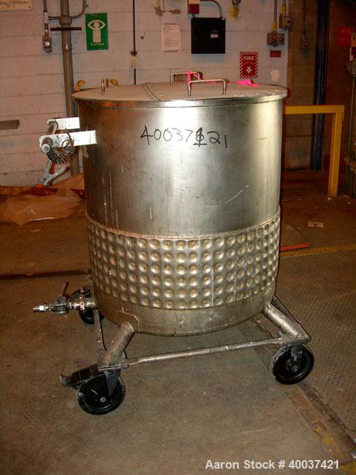 "Used- Precision Stainless Kettle, 150 gallon, 304L stainless steel, vertical. 34"" diameter x 36"" straight side, open top wit..."