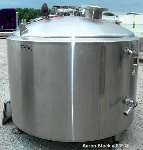 "Used- Precision Stainless Processor/Kettle, 400 Gallon, 316L Stainless Steel, Vertical. 60"" diameter x 36"" straight side. Di..."