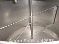 "Used- Purity Kettle, 500 Gallon, Stainless Steel, Vertical. 64"" Diameter x 45"" straight side. Insulated and jacketed. Flat o..."