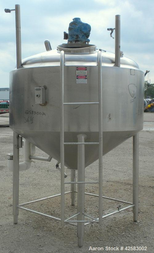 "Used- St. Regis Processor Kettle, 500 Gallon, 316 stainless steel, vertical. 66"" Diameter x 33"" straight side x 36"" coned bo..."