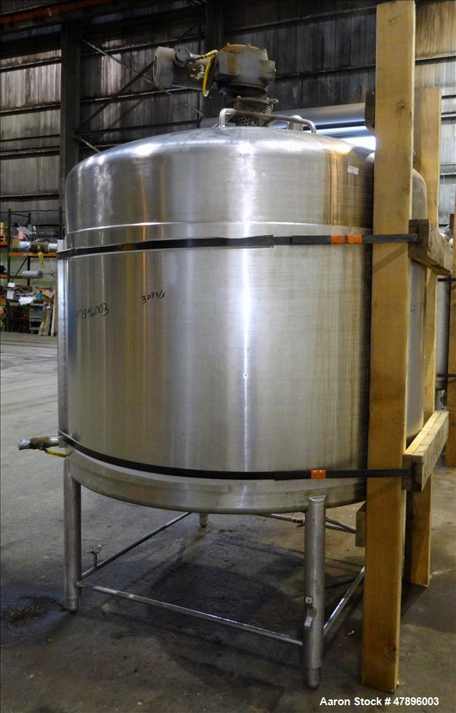 Used- St. Regis Processor Kettle, Approximate 1,000 Gallon, 304 Stainless Steel.