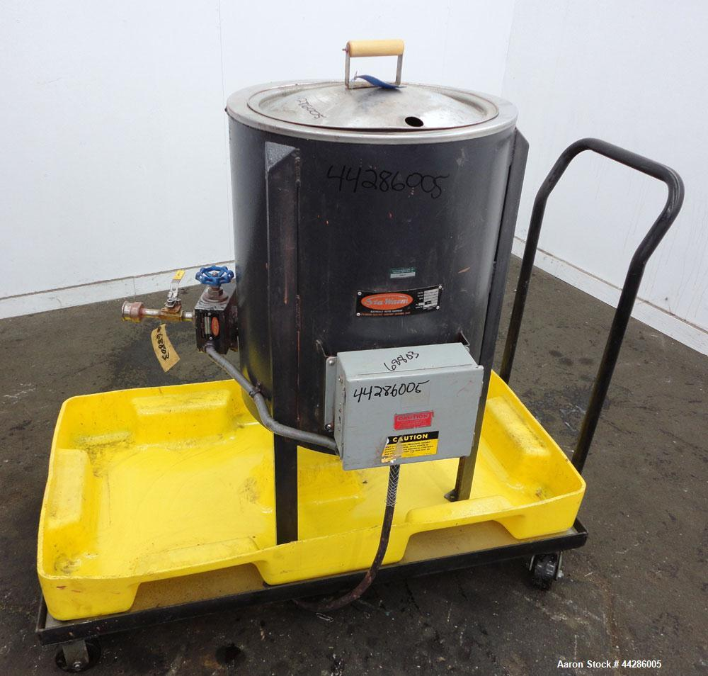 "Used- Sta-Warm Electrically Heated Compound Melter, 25 Gallon, Model 53WSSS, 304 Stainless Steel. 18-1/2"" Diameter x 22"" dee..."
