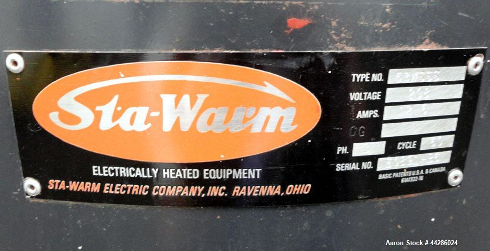 Used- 25 Gallon Stainless Steel Sta-Warm Electrically Heated Compound Melter, Mo