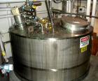 USED: ADM Stainless Inc kettle, 1057 gallon, model CV, stainless steel, vertical. 65