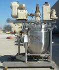 Used- J.C. Pardo & Sons Dual Motion Vacuum Kettle, 250 Gallon, 316 Stainless Steel, Vertical. 48