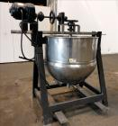 Used- 125 Gallon Stainless Steel Lee Metal Products Mixing Kettle
