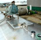 Used- Mojonnier Brothers Cold Wall Tank, 3500 gallon, model MIIIF, 304 stainless steel, horizontal. 92