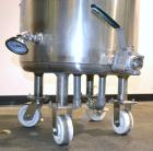 Used- Precision Stainless Kettle, 15 Gallon, 316L Stainless Steel, Vertical. Approximately 18'' diameter x 18'' straight sid...