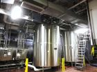"Used- Tolan Kettle, 5000 Gallon, 316L Stainless Steel. 102"" Diameter x 132"" straight side, dish top and bottom.  Atmospheric..."