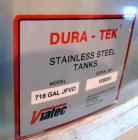 Used- Viatec Dura-Tek Kettle, 718 Gallon, Model 718 GAL JFVD, 304 Stainless Steel, Vertical. Approximately 60