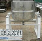 Unused-UUSED: Welbilt kettle, 80 gallon, model KDL-80T, 304 stainless steel. 33