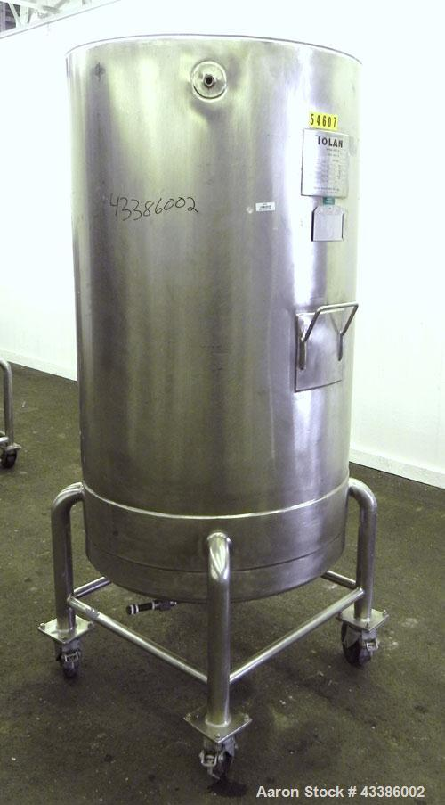 """Used- Tolan Machinery Kettle, 158 Gallon (600 Liter), 316 Stainless Steel, Vertical. 30"""" Diameter x 54"""" straight side. Open ..."""