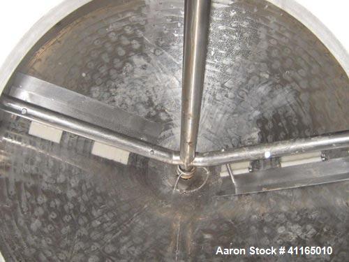 Used- Viatec 878 Gallon scrape surface pressure wall processor. Has dome top and cone Bottom. Built in 2001. 10FL 3 inch lea...