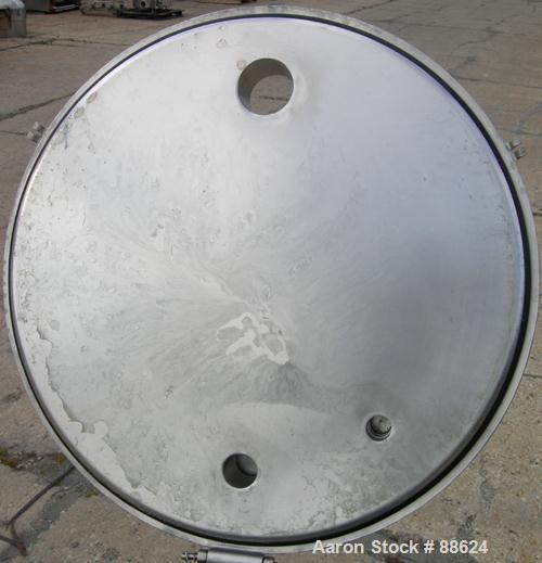"Used- Paul Mueller Kettle, 100 Gallon, Model F, 316 Stainless Steel, Vertical.  28"" diameter x 34"" straight side, open top w..."